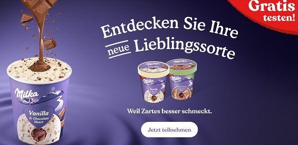 Milka Eis kostenlos ausprobieren