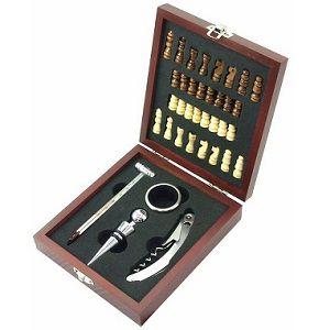 MK Handel Weinset 36-teilig in Holzbox inkl. Schachspiel für 9,80€ (statt 11€) -Tipp Doppelpack