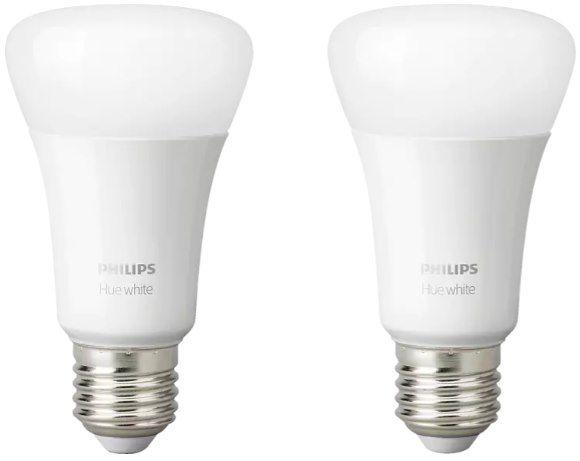 2er Pack Philips Hue White E27 LED Lampe mit Bluetooth für 14,86€ (statt 23€)   Prime