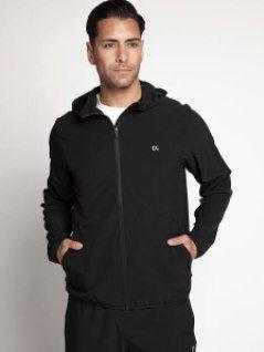 Calvin Klein Herren Sportjacke in schwarz für 34,33€ (statt 64€)
