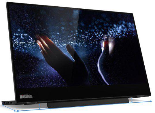 Lenovo ThinkVision M14t USB C Bildschirm mit Touchscreen für 236,88€ (statt 327€)