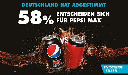 Bis zu 4x Pepsi Max (0,5 Liter) kostenlos abholen
