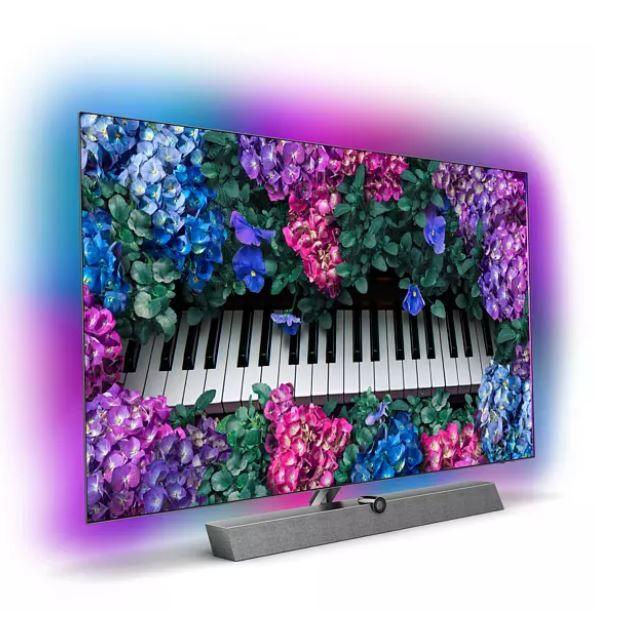 Philips 55OLED935/12 – 55Zoll Ambilight UHD smart TV mit Soundbar Ständer für 1.476,65€ (statt 1.739€)