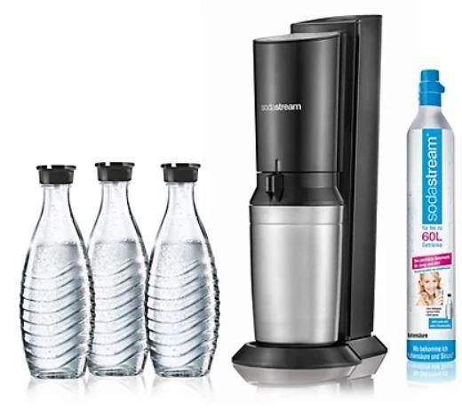 SodaStream Crystal 2.0 Wassersprudler in TITAN mit 3 Glaskaraffen für 84,95€ (statt 99€)