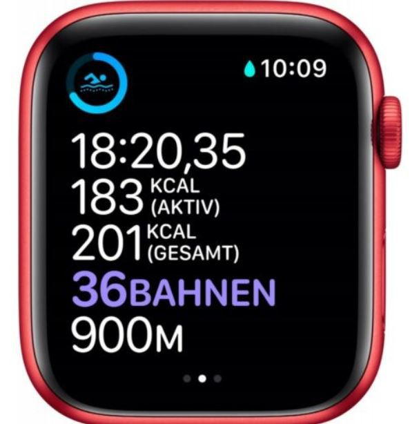 Apple Watch Series 6 (GPS) 40mm Aluminium in Rot für 332,91€ (statt 368€)