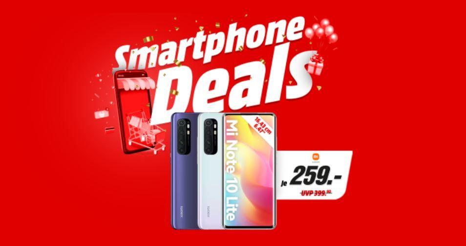 Media Markt & Saturn Smartphone Fieber   z.B. XIAOMI Mi Note 10 lite 128GB für 249€ (statt 370€)