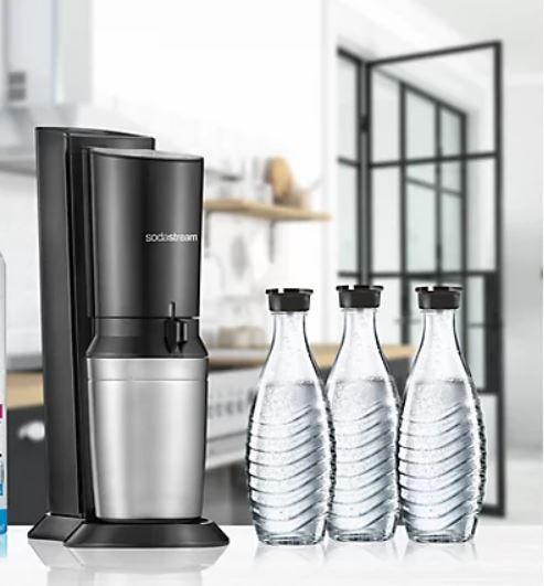 SodaStream Crystal 2.0 Wassersprudler in TITAN mit 3 Glaskaraffen für 84,95€ (statt 94€)