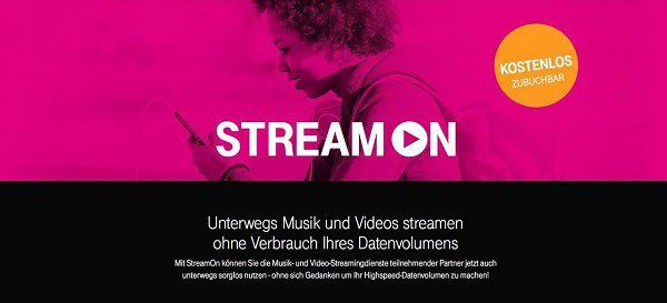 Für MagentaMobil S / M Young & FamilyCard S / M Kids & Teens StreamOn gratis dazu