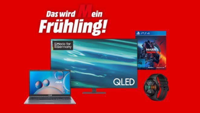 Media Markt Spring Sale   z.B. WOLF Garten Loopo S500 Connext Mähroboter für 459€ (statt 589€)