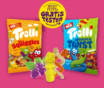 Fruchtgummis von Trolli kostenlos ausprobieren