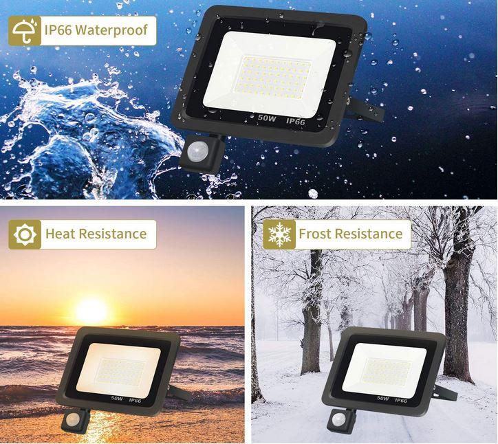 XZN 50W LED Flutlicht mit Bewegungsmelder für 14,39€ (statt 24€)