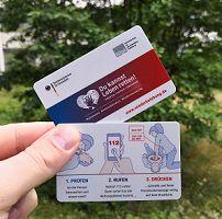 Kurzanleitung zur Wiederbelebung als Plastikkarte gratis nach Hause