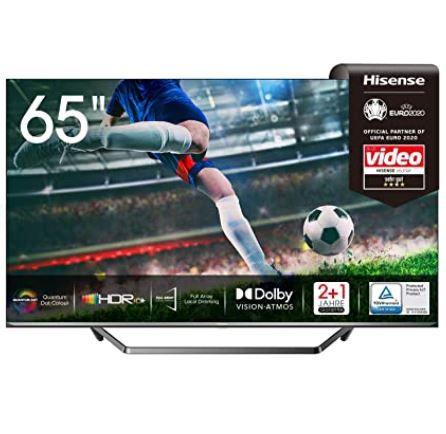 Hisense 65U7QF QLED UHD smart TV für 664,05€ (statt 827€)