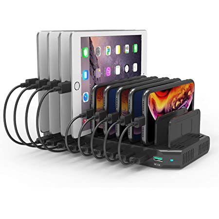 60W USB Ladestation mit 9 USB-Ports & 1x QC 3.0 Port für 35,99€ (statt 60€)