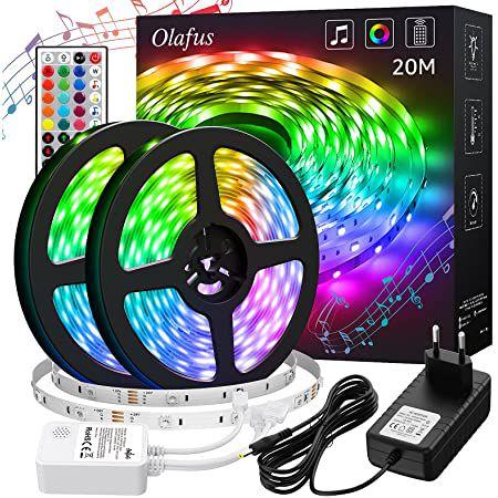 2x 10m Olafus LED Streifen mit Fernbedienung für 17,99€ – Prime