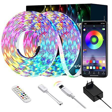 2x 5m Ltteny LED Streifen mit App-Steuerung für 10,29€ (statt 25€) – Prime