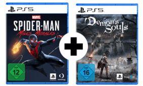 MediaMarkt: Gaming Fun im Doppelpack   z.B. Marvel's Spider Man: Miles Morales PS5 + Demon's Souls PS5 für 69,99€ (statt 97€)