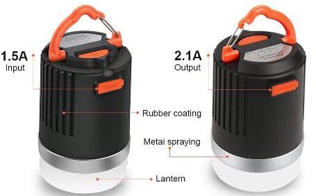 ELEPOWSTAR LED Campinglampe IP65 mit 8800 mAh Akku für 9,99€ (statt 20€)