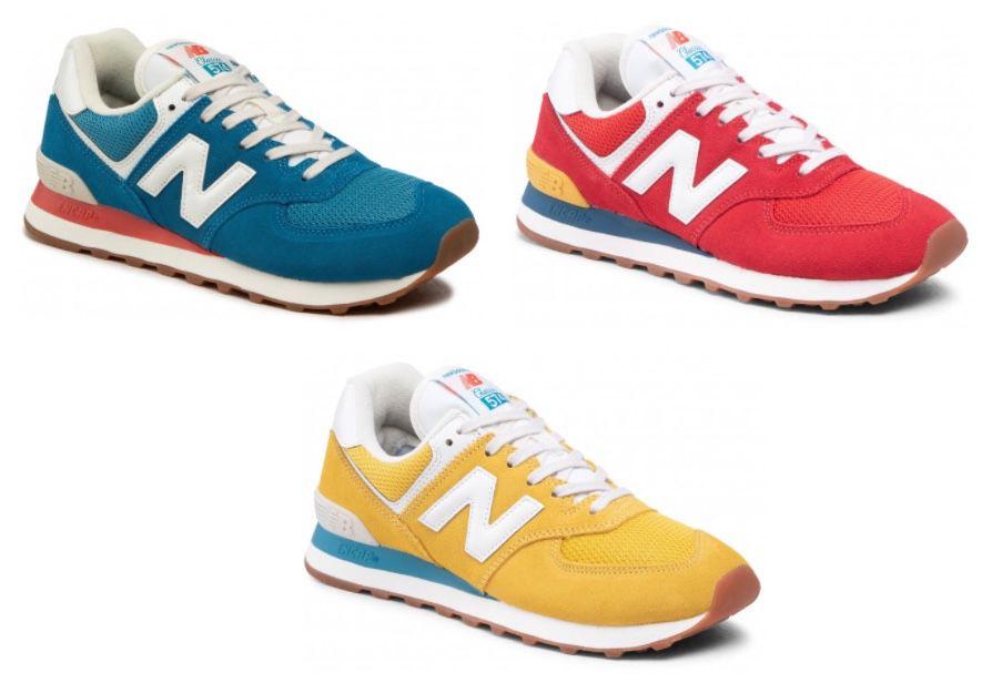 New Balance ML574HC2 Sneaker in Blau, Rot und Gelb für je 62€(statt 90€)