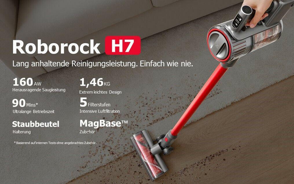 Roborock H7 kabelloser Handstaubsauger (Modell 2021) für 369€ (statt 399€)
