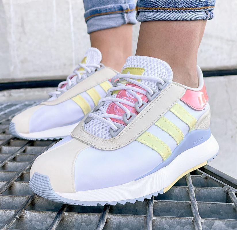 adidas SL Andridge Damen Sneakern in Cloud White-Yellow für 45,36€ (statt 61€)