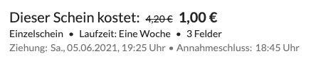 30 Mio. Jackpot: 3 Felder Lotto 6 aus 49 für nur 1€   Neukunden