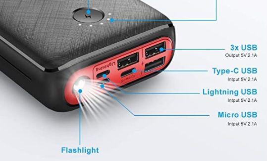 JIGA Powerbank mit 30.000mAh inkl. Taschenlampe für 17,79€ (statt 33€)