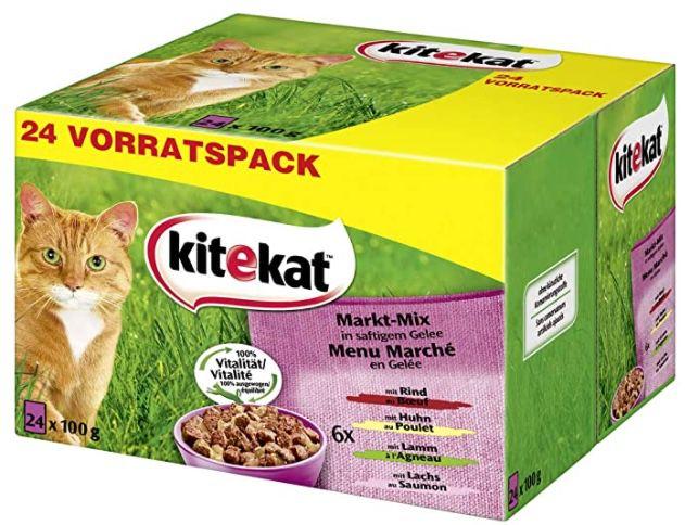 240er Pack Kitekat Katzen Nassfutter Markt Mix in Gelee ab 31€ (statt 50€)