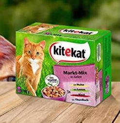 240er Pack Kitekat Katzen-Nassfutter Markt Mix in Gelee ab 31€ (statt 50€)
