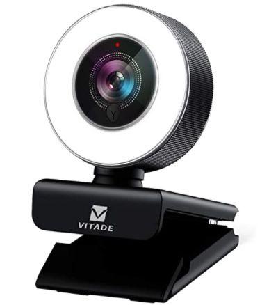 Vitade 1080P Full HD Webcam mit Mikrofon + automatischer Lichtkorrektur für 25,99€ (statt 52€)