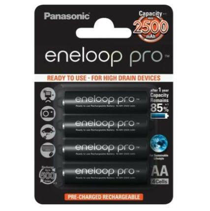 4x 4er Pack Panasonic eneloop pro Ready to Use 2.500 mAh für 40,52€ (statt 53€)