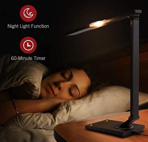 TaoTronics LED Schreibtischlampe mit vollem Metall Gehäuse für 54,99€ (statt 70€)