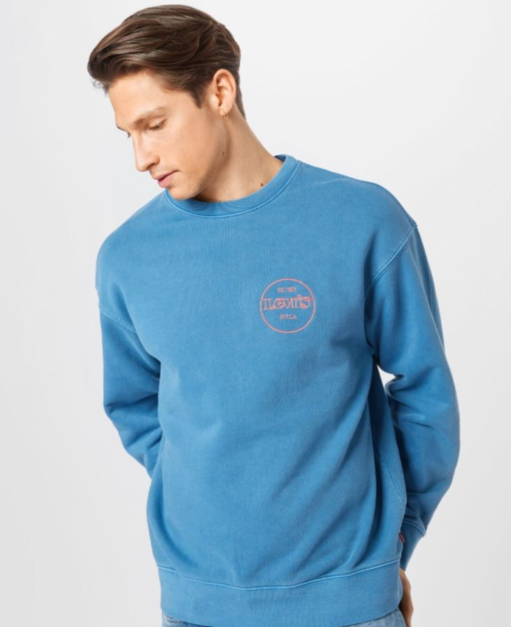 Levis Relaxed Graphic Crew Sweatshirt in Sapphire Blue für 34,90€ (statt 50€)