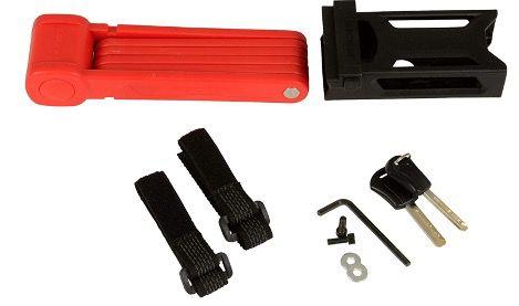 FISCHER Faltschloss in Rot inkl. Halterung und 2 Sicherheitsschlüsseln für 15,07€ (statt 29€)