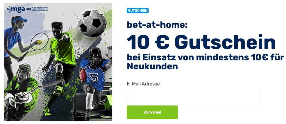bet at home: 10€ Amazon Gutschein bei nur 10€ Einzahlung + 100% Bonus bis 100€ Einzahlung