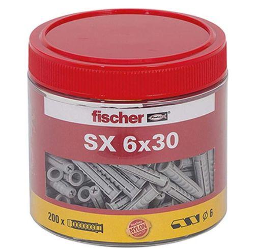 200er Pack fischer Spreizdübel SX 6 x 30 in Runddose für 3,85€ (statt 14€) – Prime