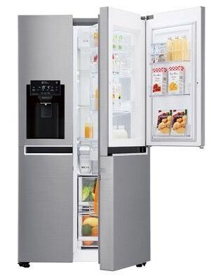LG GSJ761PZBG Sied by Side Door in Door Kühlschrank mit Wassertank in Edelstahl für 1.048,90€ (statt 1.397€)