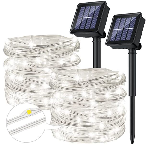 2x 12m LED Solar-Lichterkette mit 8 Modi für 14,99€ (statt 20€) – Prime