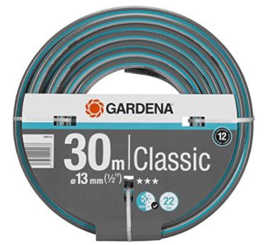 Gardena Classic Schlauch 13 mm (1/2 Zoll, Länge 30m) ab 15,21€ (statt 26€)