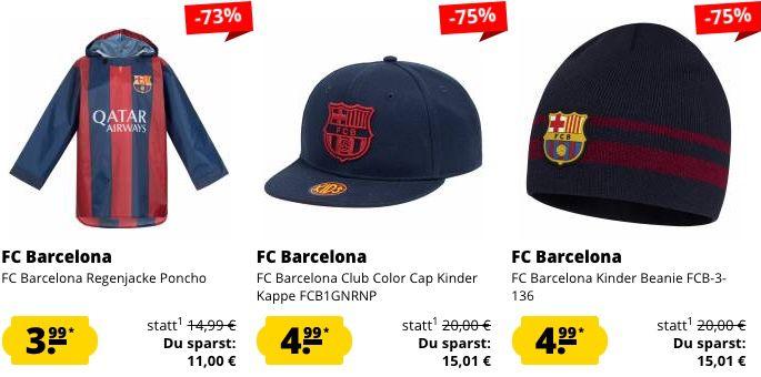 FC Barcelona Kids Sale + 5€ Gutschein ab 60€   z.B. Regenjacke 3,99€ oder Poloshirt 8,99€