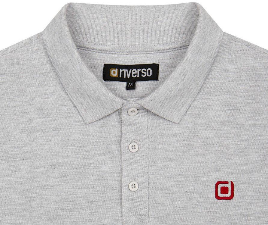riverso Herren Poloshirts in Regular Fit bis 5XL für je 14,99€