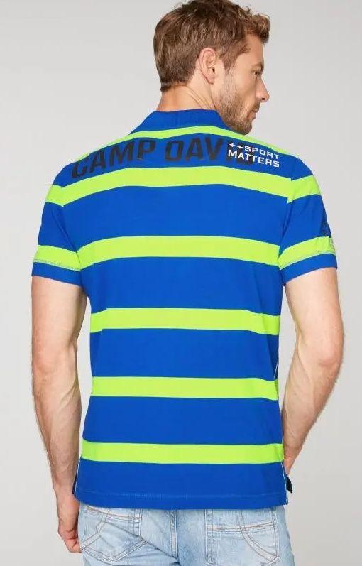Camp David Poloshirt mit Neon Blockstreifen für 41€ (statt 58€)