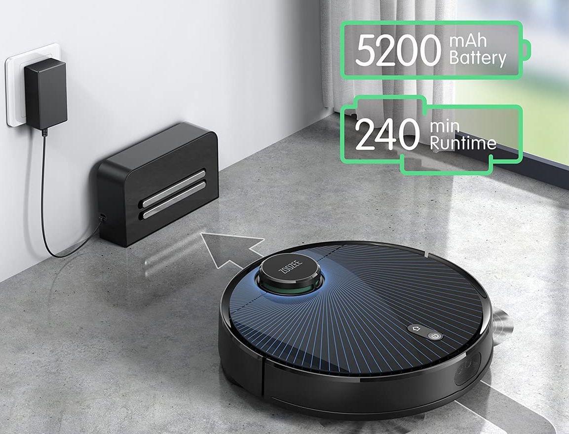 Zoozee Z70 Saugroboter mit bis zu 240 Minuten Laufzeit + Auto Mapping System für 359,99€ (statt 530€)