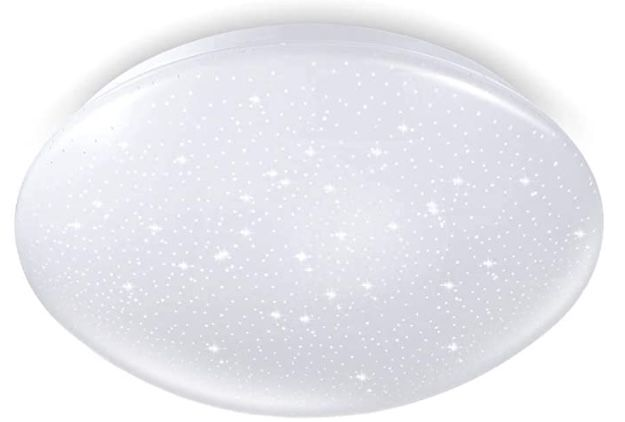 Tonffi LED Deckenleuchte dimmbar 18W mit Sternen Dekor für 17,39€ (statt 29€)