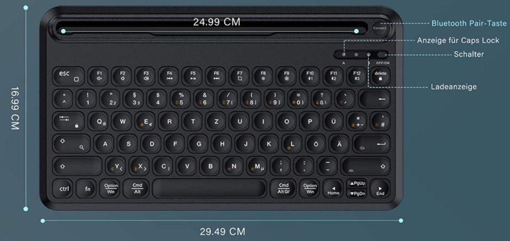 Jelly Comb Bluetooth Tastatur und Maus im Set für 24,99€ (statt 50€)