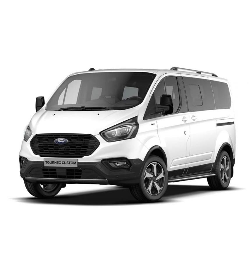 Privat: Ford Tourneo Custom mit Sitzheizung & Einparkhilfe für 249€ mtl. – LF: 0.45