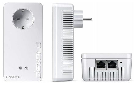 devolo Magic 1 1200 WiFi Starter Kit (1200 Mbit/s, 2x LAN, Mesh, G.hn) für 74,90€ (statt 118€)