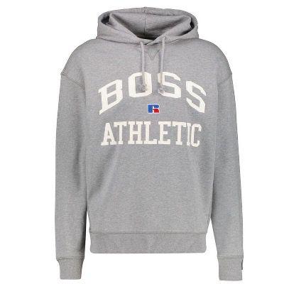 BOSS Herren Sweatshirt Safa_RA mit Kapuze in Grau für 81,72€ (statt 125€)