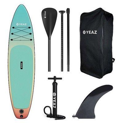 YEAZ Inflatable SUP-Board Nelio Exotrek 5teilig inkl. Paddel, Pumpe und Rucksack für 449,99€ (statt 699€)