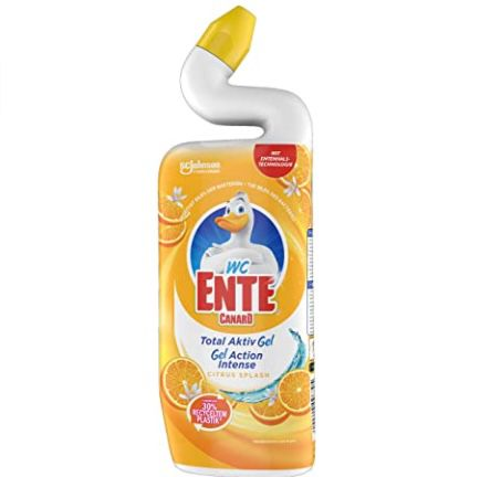 25er Pack WC Ente Total Aktiv Gel Flüssiger WC Reiniger Citrus Splash für 24,52€ (statt 41€)
